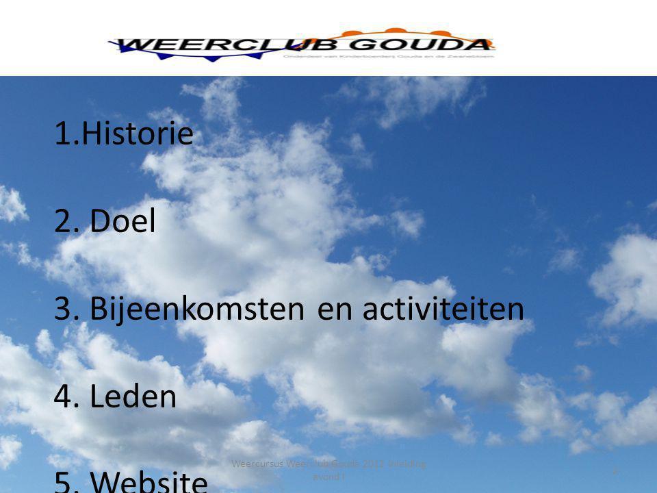 Weercursus Weerclub Gouda 2012 Inleiding avond I