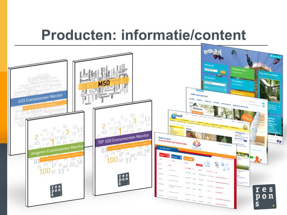 Producten: informatie/content