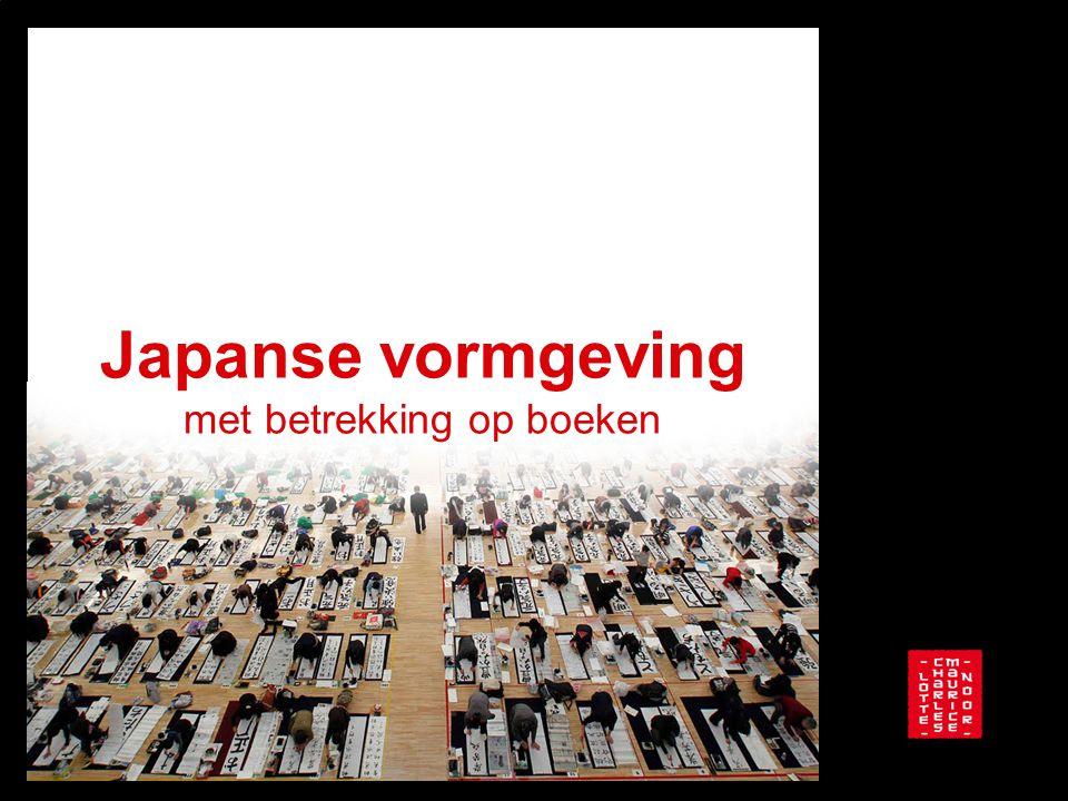 Japanse vormgeving met betrekking op boeken