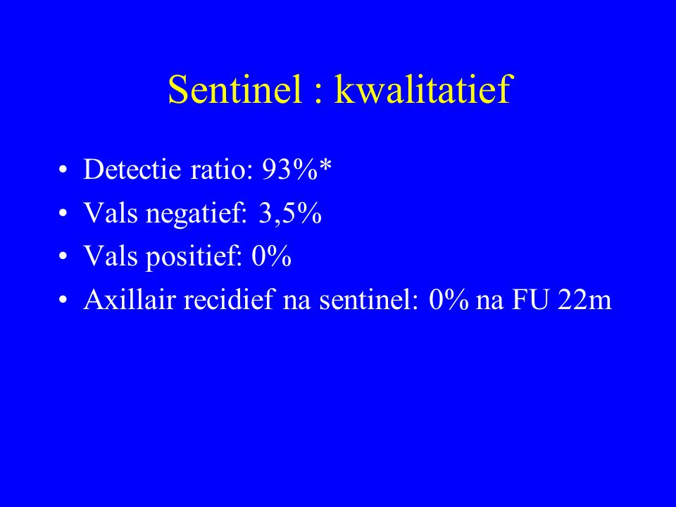 Sentinel : kwalitatief