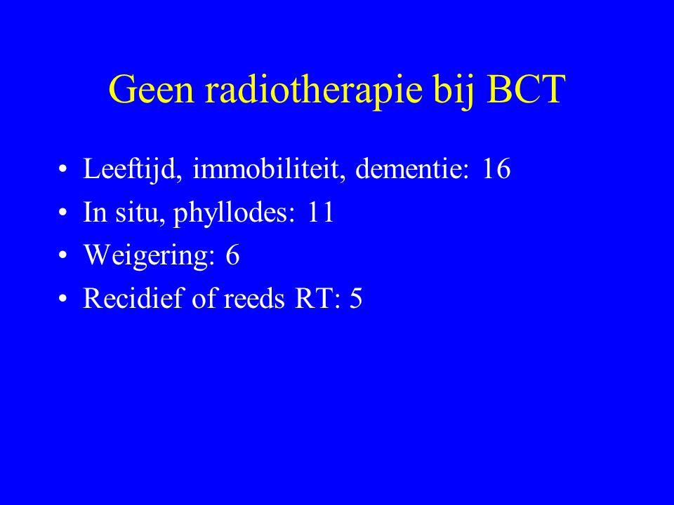 Geen radiotherapie bij BCT