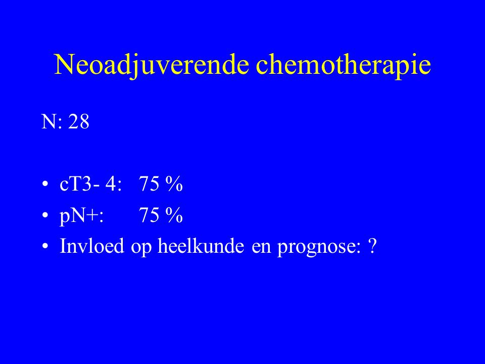 Neoadjuverende chemotherapie