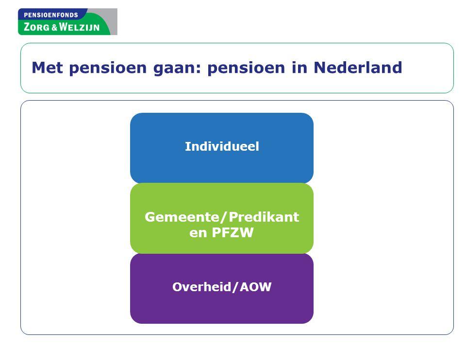 Met pensioen gaan: pensioen in Nederland