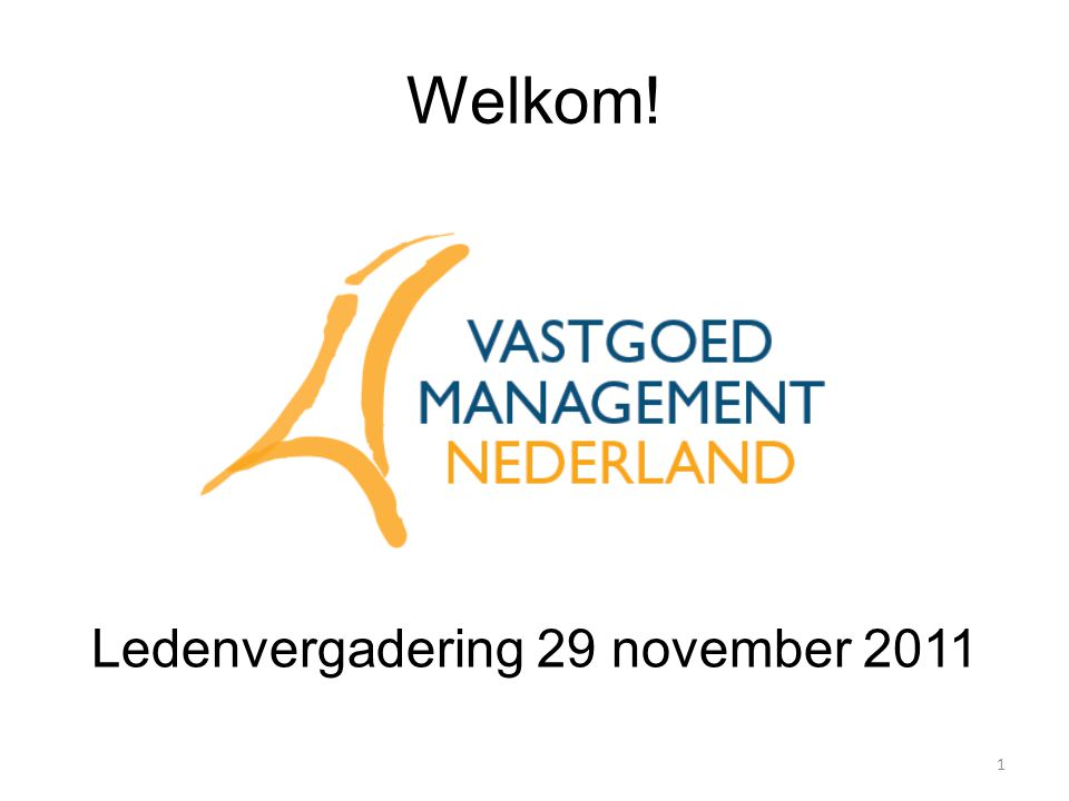 Ledenvergadering 29 november 2011