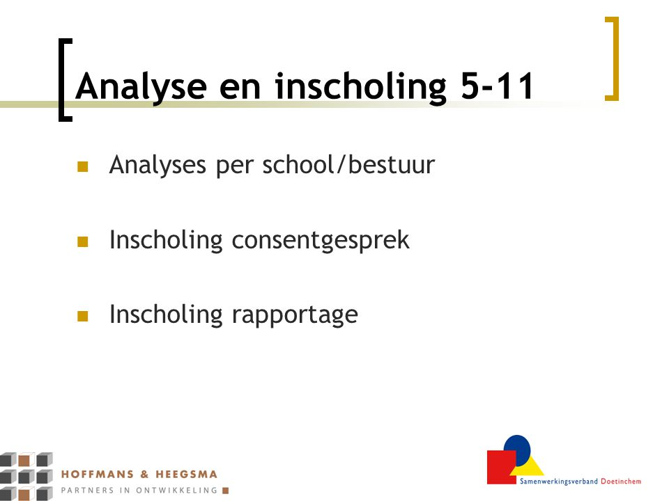 Analyse en inscholing 5-11