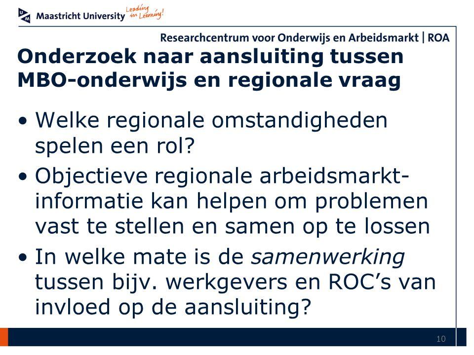 Onderzoek naar aansluiting tussen MBO-onderwijs en regionale vraag