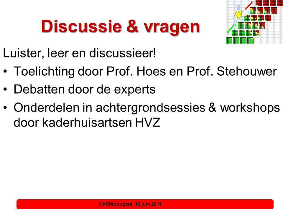 Discussie & vragen Luister, leer en discussieer!