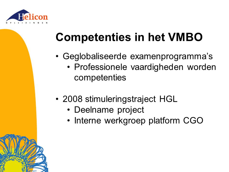 Competenties in het VMBO