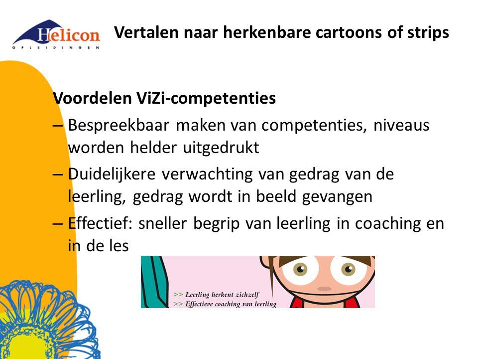 Vertalen naar herkenbare cartoons of strips