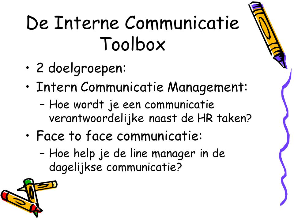 De Interne Communicatie Toolbox