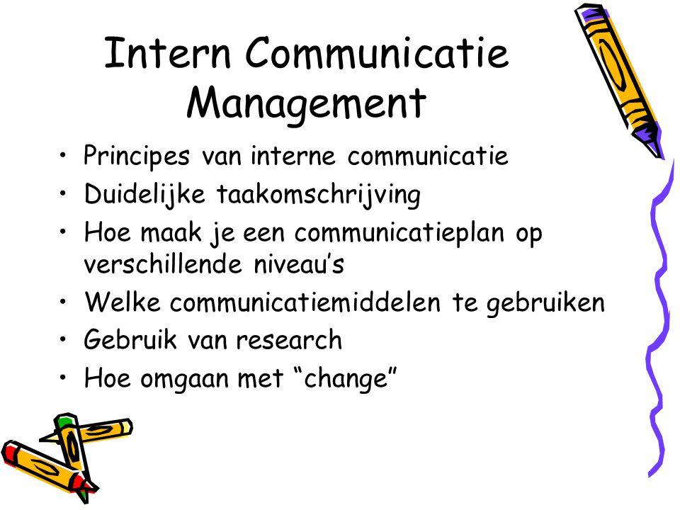 Intern Communicatie Management