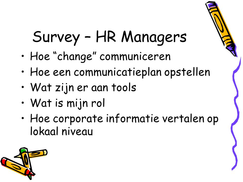 Survey – HR Managers Hoe change communiceren
