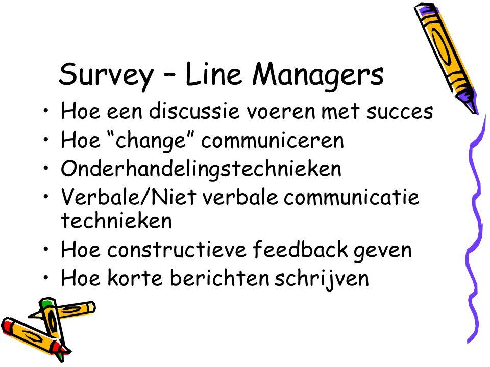 Survey – Line Managers Hoe een discussie voeren met succes