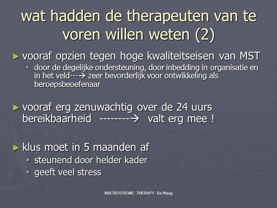 wat hadden de therapeuten van te voren willen weten (2)