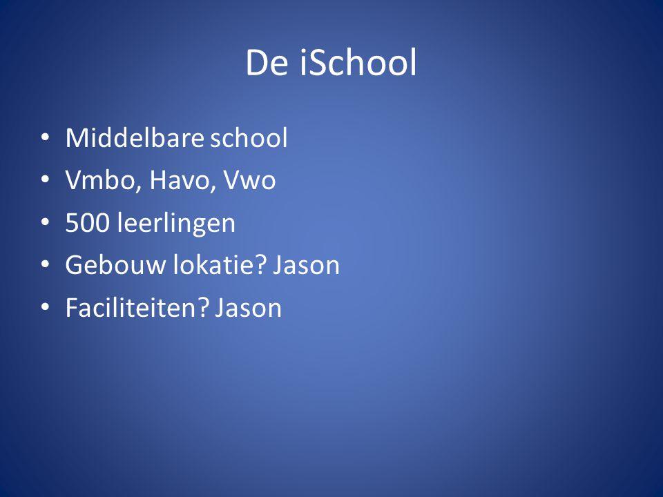 De iSchool Middelbare school Vmbo, Havo, Vwo 500 leerlingen