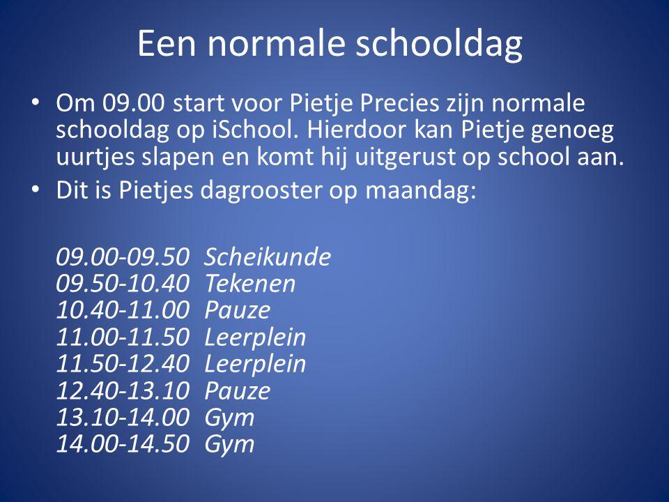 Een normale schooldag