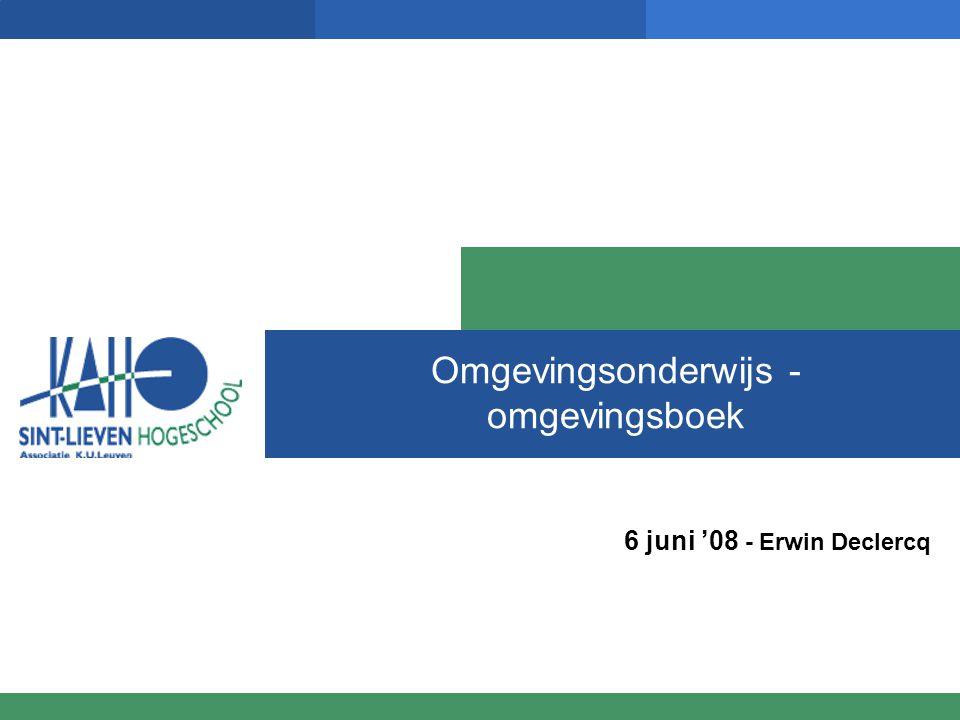 Omgevingsonderwijs - omgevingsboek