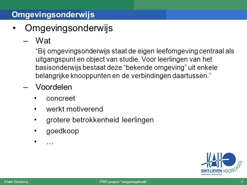 PWO-project omgevingsboek