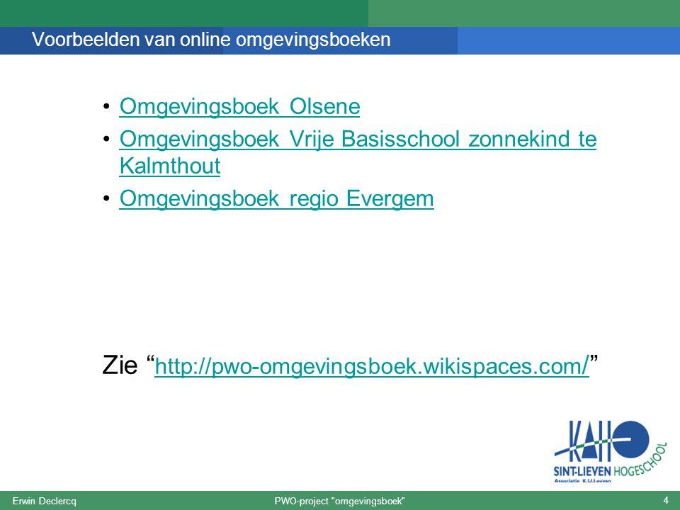 Voorbeelden van online omgevingsboeken