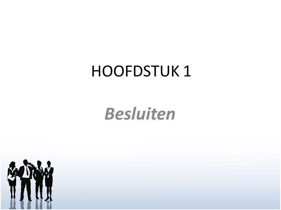 HOOFDSTUK 1 Besluiten