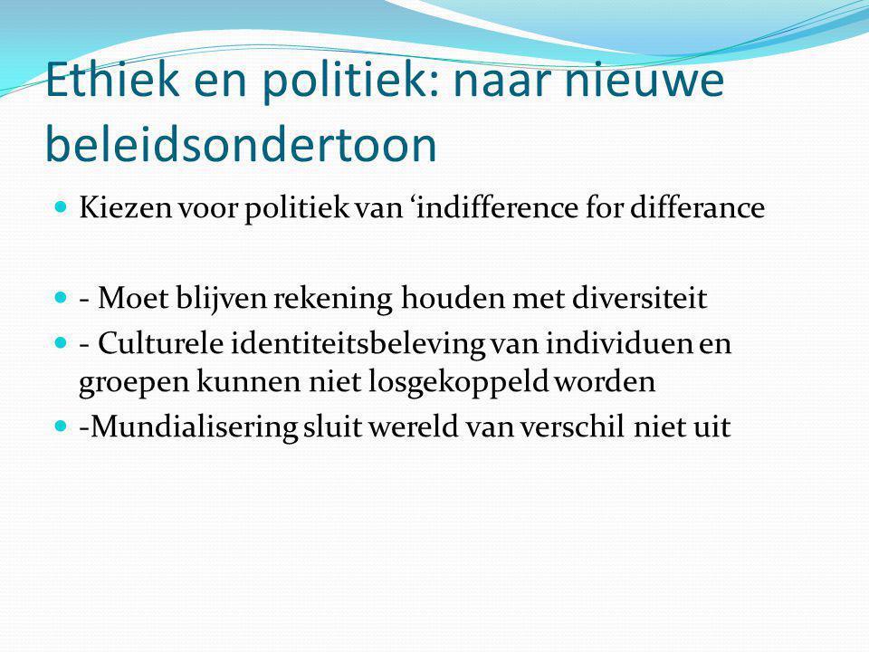 Ethiek en politiek: naar nieuwe beleidsondertoon