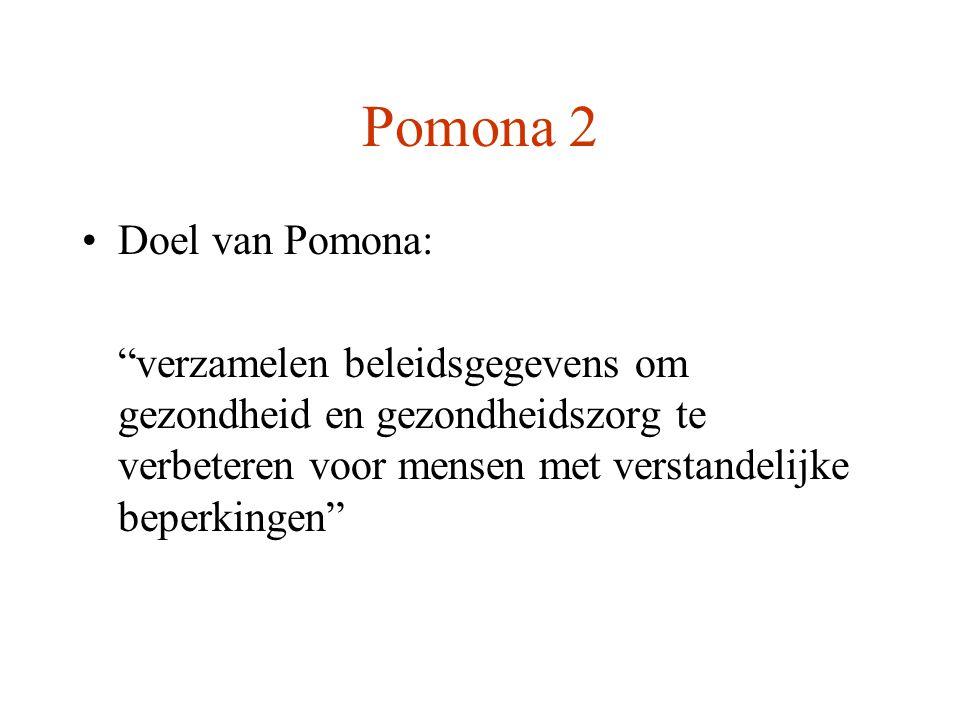 Pomona 2 Doel van Pomona: