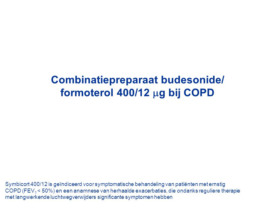 Combinatiepreparaat budesonide/ formoterol 400/12 g bij COPD