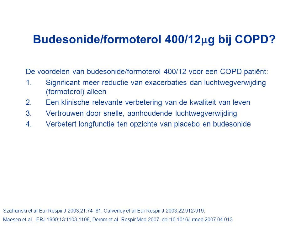 Budesonide/formoterol 400/12g bij COPD