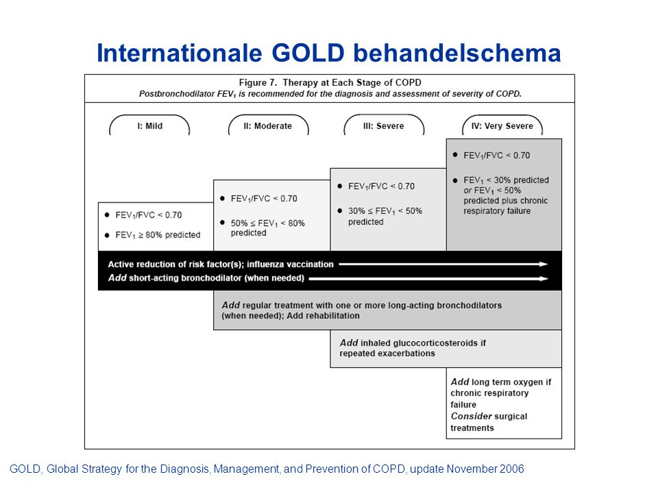 Internationale GOLD behandelschema