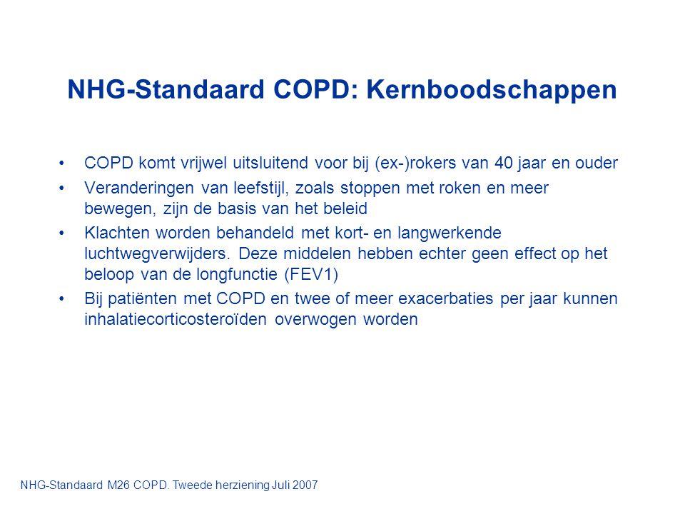 NHG-Standaard COPD: Kernboodschappen