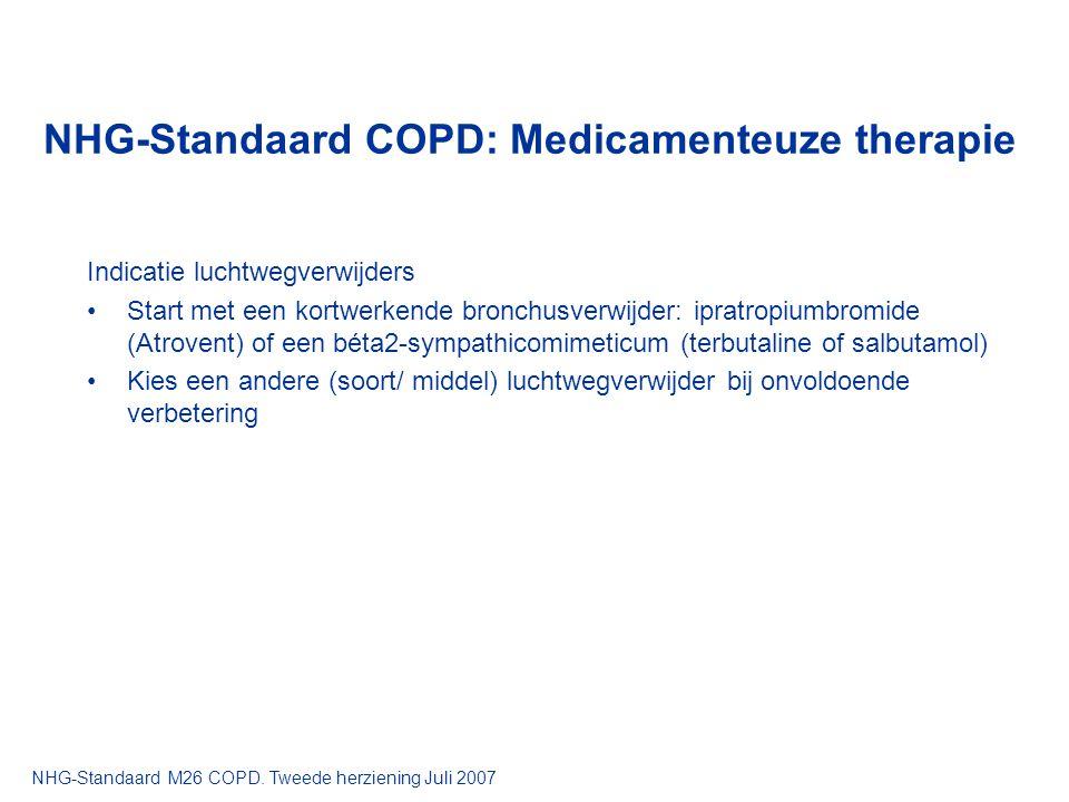 NHG-Standaard COPD: Medicamenteuze therapie