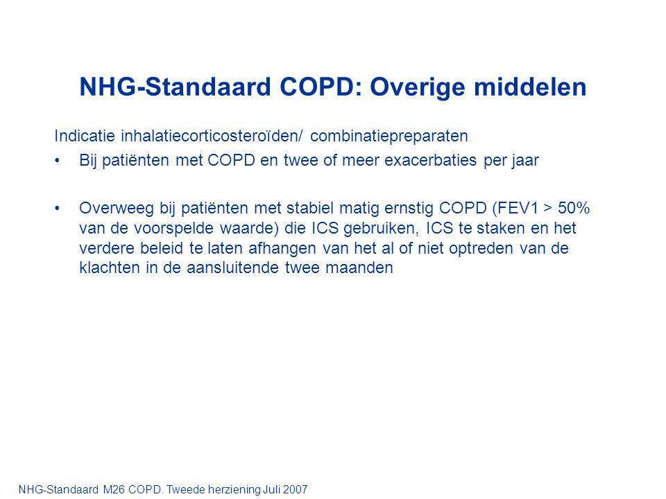NHG-Standaard COPD: Overige middelen