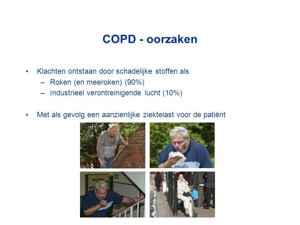 COPD - oorzaken Klachten ontstaan door schadelijke stoffen als