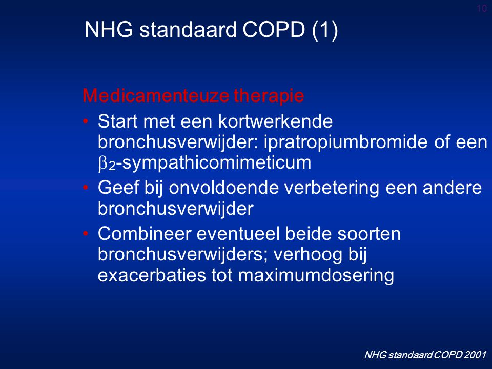 NHG standaard COPD (1) Medicamenteuze therapie