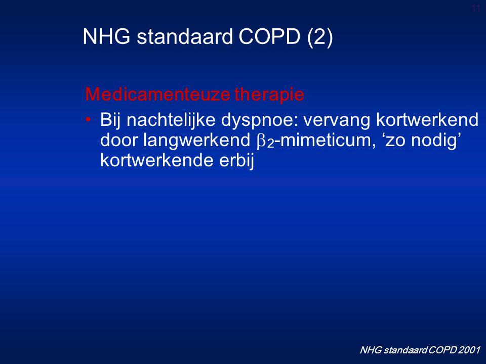 NHG standaard COPD (2) Medicamenteuze therapie