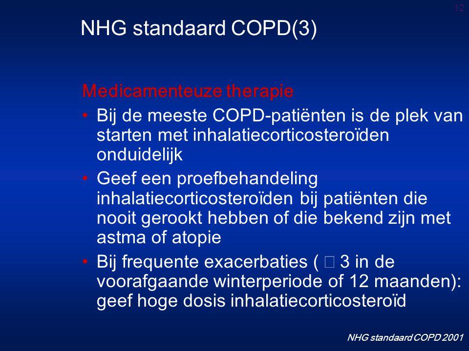 NHG standaard COPD(3) Medicamenteuze therapie