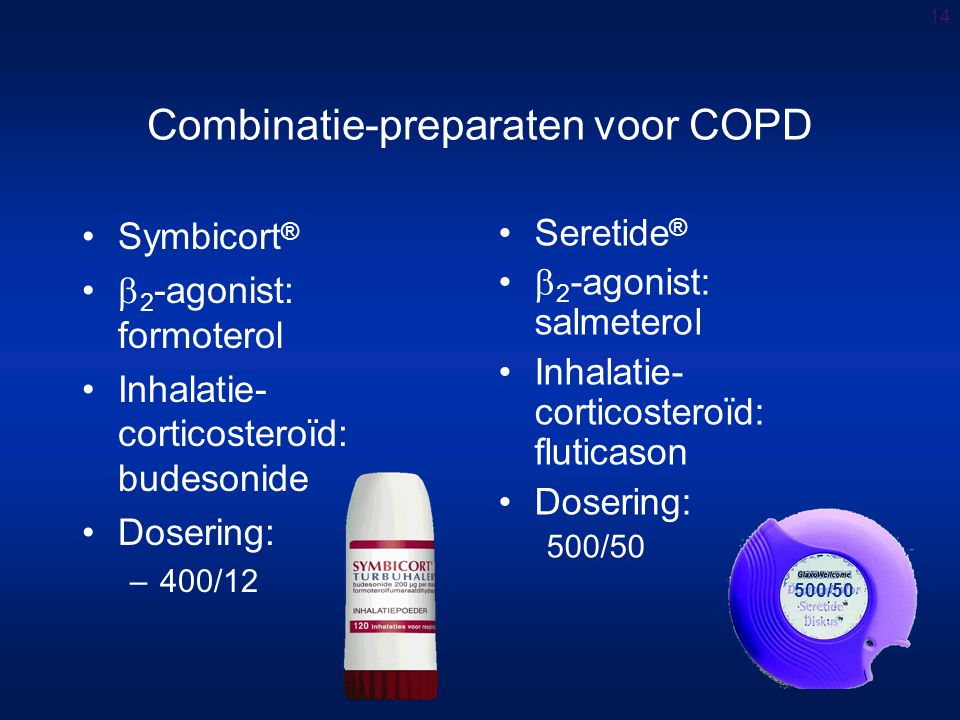 Combinatie-preparaten voor COPD