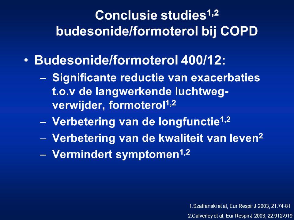Conclusie studies1,2 budesonide/formoterol bij COPD