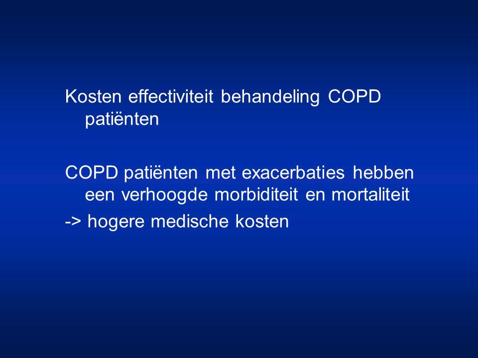 Kosten effectiviteit behandeling COPD patiënten