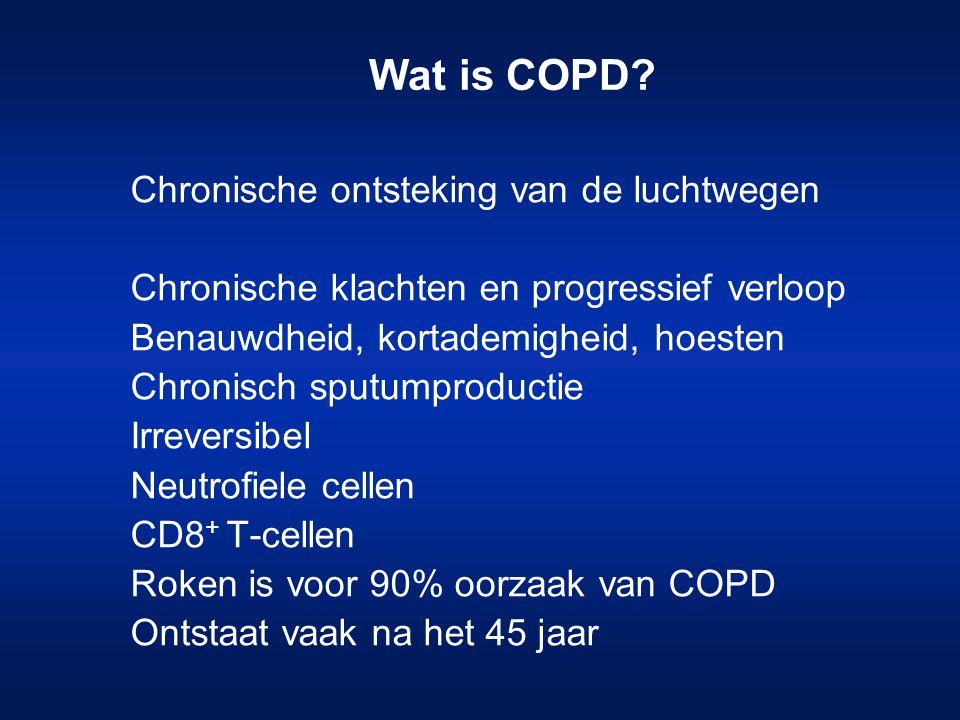 Wat is COPD Chronische ontsteking van de luchtwegen