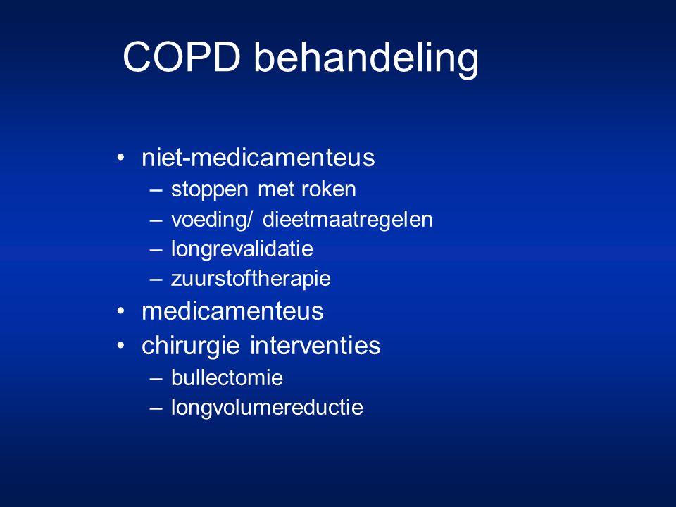 COPD behandeling niet-medicamenteus medicamenteus