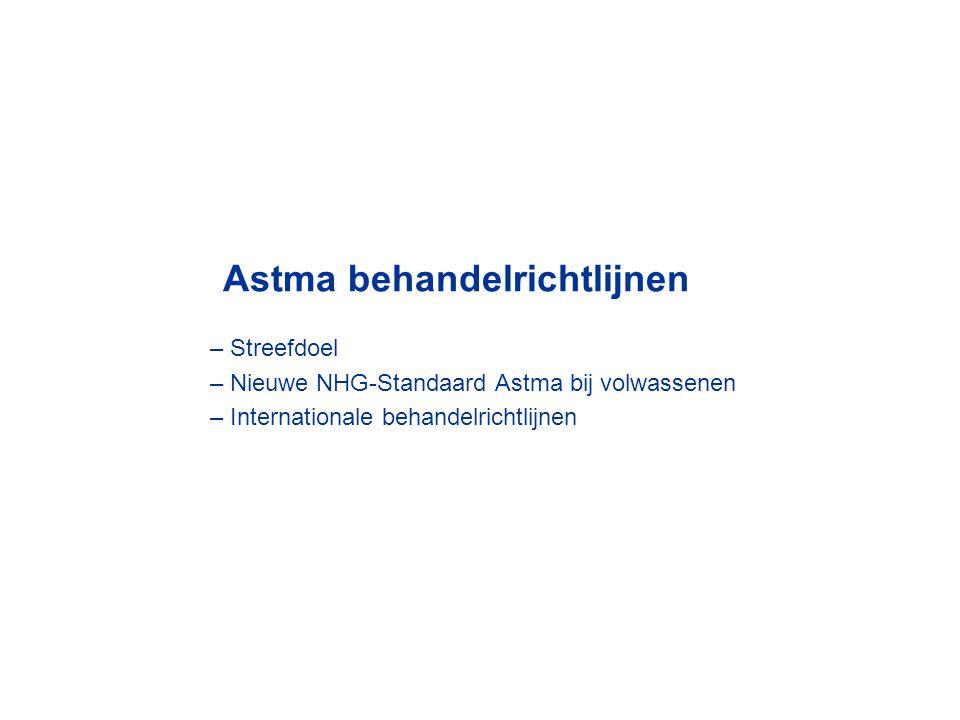 Astma behandelrichtlijnen