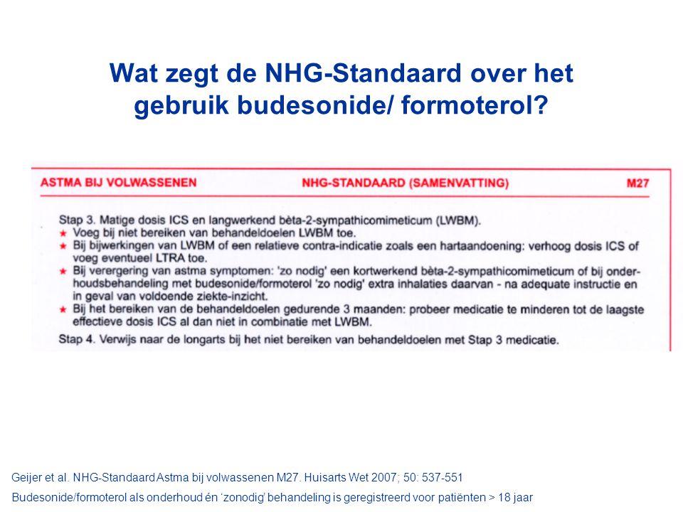 Wat zegt de NHG-Standaard over het gebruik budesonide/ formoterol