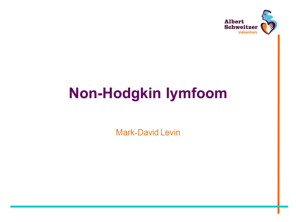 Non-Hodgkin lymfoom Mark-David Levin