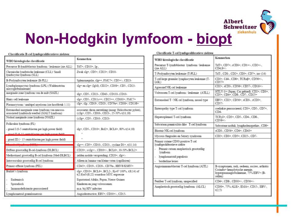 Non-Hodgkin lymfoom - biopt
