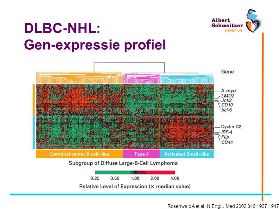 DLBC-NHL: Gen-expressie profiel