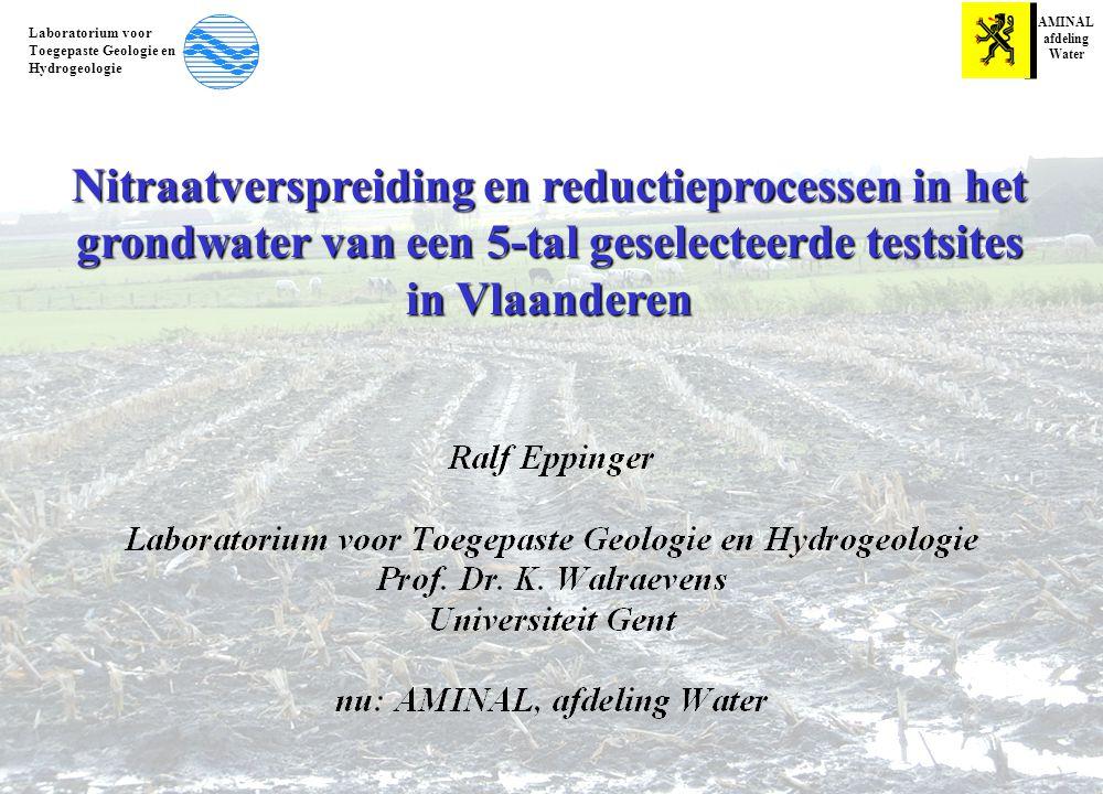 AMINAL afdeling. Water. Laboratorium voor. Toegepaste Geologie en. Hydrogeologie.