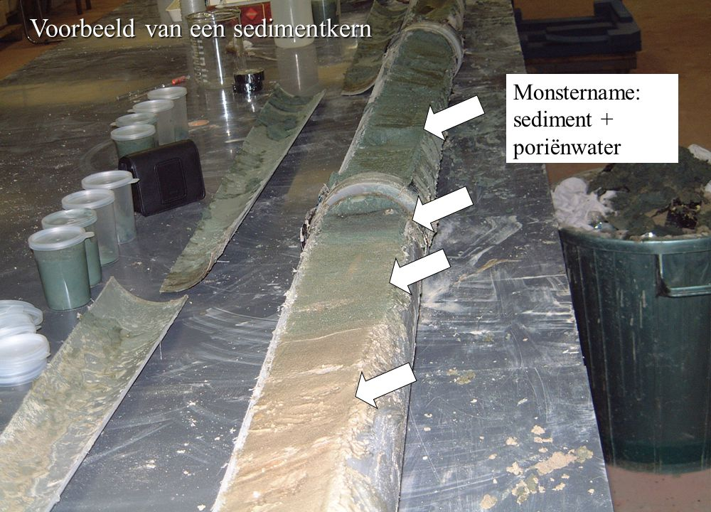 Voorbeeld van een sedimentkern