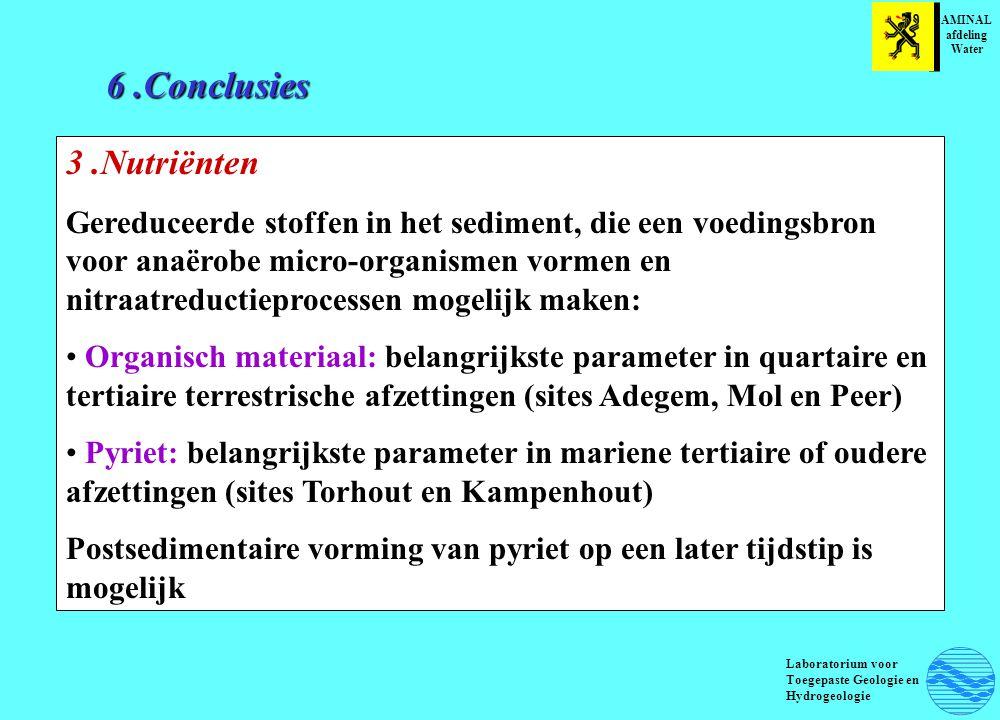6 .Conclusies 3 .Nutriënten