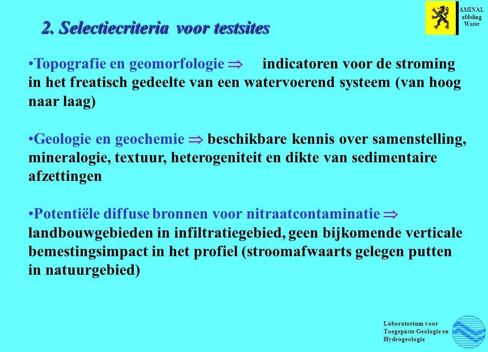2. Selectiecriteria voor testsites